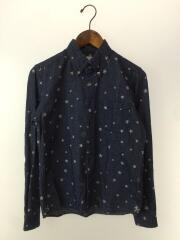 14AW/STAR PRINT FLANNEL B.D SHIRT/長袖シャツ/1/コットン/NVY