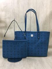 TOP ZIP SHOPPER MED/トートバッグ/MWP 7SVI33 LC001/--/BLU